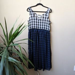 Urban Outfitters Gingham Sheer Layering Dress sz